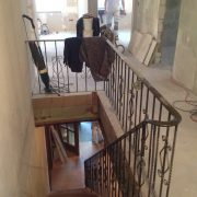 Zu beschichtendes Treppenhaus