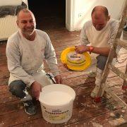 Das Team vom Malerbetrieb Wulle freut sich auf die Challenge
